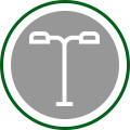 Street and Area Lighting Icon